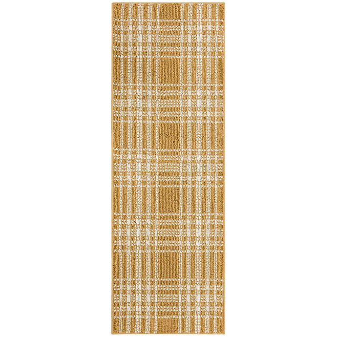 Alternate image 1 for Bee & Willow™ Home Plaid 1'8 x 4'6 Accent Rug in Marigold