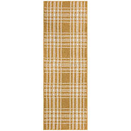 Bee & Willow™ Home Plaid 1'8 x 4'6 Accent Rug in Marigold