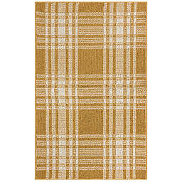 Bee & Willow™ Home Plaid 2'6 x 3'9 Accent Rug in Marigold