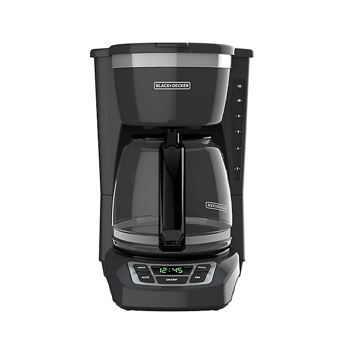 Alternate image 1 for Black + Decker™ 12-Cup* Programmable Coffee Maker in Grey