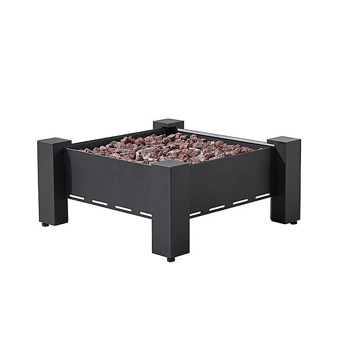 Alternate image 1 for Martha Stewart Perry Street Propane Square Fire Pit in Dark Charcoal