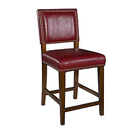 45-Inch Faux Leather Bar Stool in Red/Brown