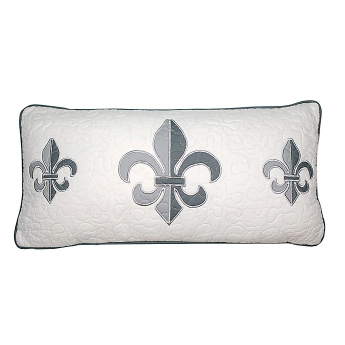 Alternate image 1 for Donna Sharp Ashland Fleur Oblong Throw Pillow in White