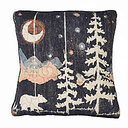 Donna Sharp® Moonlit Bear Square Throw Pillow in Black