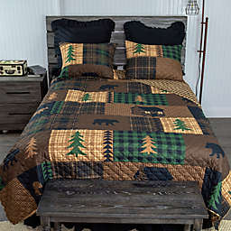 Donna Sharp Brown Bear Cabin 3-Piece Reversible Quilt Set