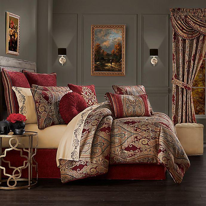 J. Queen New York™ Garnet 4-Piece Queen Comforter Set in Red