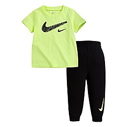 Nike® 2-Piece Volt T-Shirt and Pant Set in Black