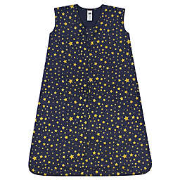 Hudson Baby® Size 0-6M Gold Star Wearable Blanket in Navy