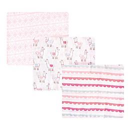 Hudson Baby® 3-Pack Llama Muslin Swaddle Blankets
