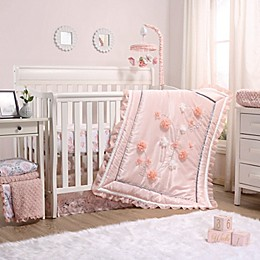 The Peanutshell™ Brianna Crib Bedding Collection in Pink/White