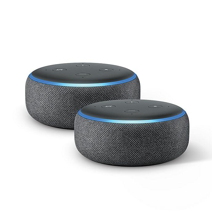 Alternate image 1 for Amazon Echo Dot Generation 3 in Black (Set of 2)