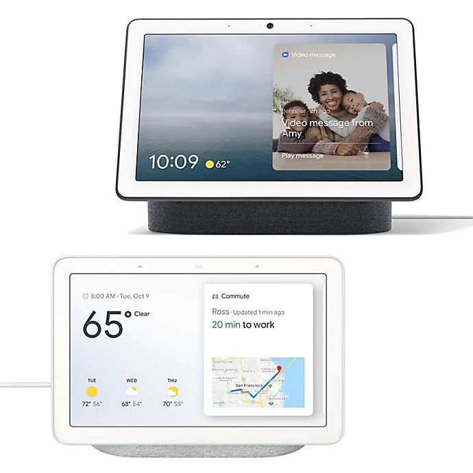 Alternate image 1 for Google Nest Hub Max in Charcoal with Nest Hub Bundle