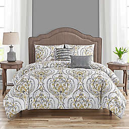 Aubrey 5-Piece Queen Comforter Set in Ochre