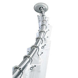 TITAN™ Stainless Steel Dual Install Curved Shower Rod in Chrome