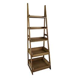 Casual Home Cascade 5-Shelf Ladder Bookcase in Alpine Grey