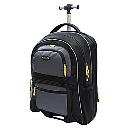Traveler's Club® Luggage Adventurer 19-Inch Rolling Carry-On Backpack in Grey/Black