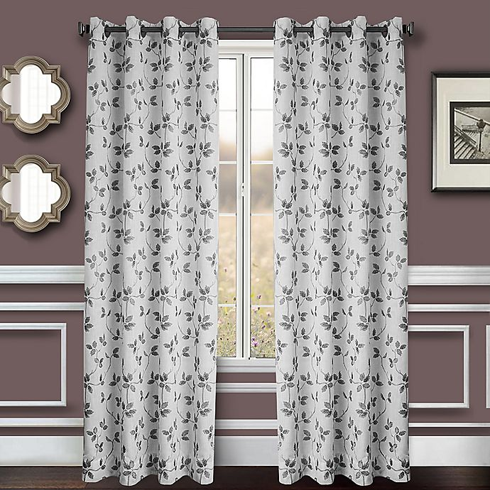 Alternate image 1 for Albany 2-Pack 84-Inch Grommet Window Curtain Panel in Pewter