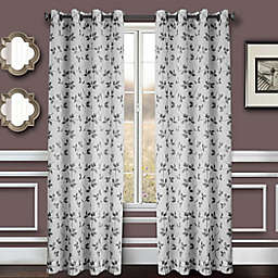 Albany 2-Pack 84-Inch Grommet Window Curtain Panel in Pewter