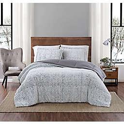 Arctic Owl Faux Fur 3-Piece King Comforter Set in Grey