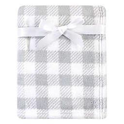 Luvable Friends® Plaid Fleece Baby Blanket in Grey