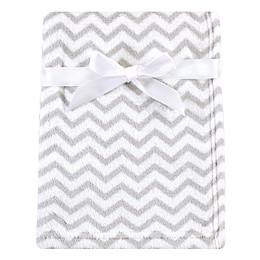 Luvable Friends® Chevron Fleece Baby Blanket in Grey