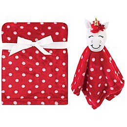 Hudson Baby® 2-Pack Unicorn Security Blanket and Toy Set in Red