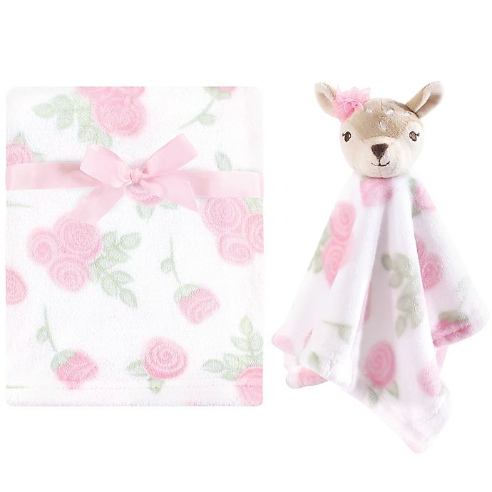 Alternate image 1 for Hudson Baby® Fawn Security Blanket and Toy Set in Pink