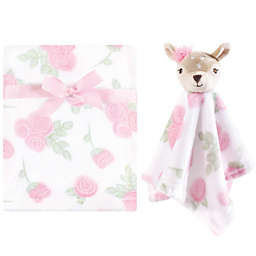 Hudson Baby® Fawn Security Blanket and Toy Set in Pink