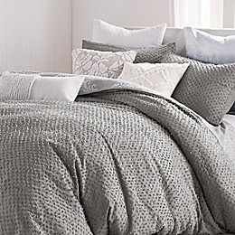 Peri Home Dot Fringe 2-Piece Twin XL Duvet Cover Set in Light Grey