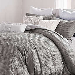 Peri Home Dot Fringe 3-Piece Duvet Cover Set in Light Grey