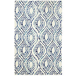 Mohawk® Home Prismatic Dotted Ogee 2' x 3' Accent Rug in Navy/White