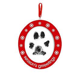 "Pearhead® ""Season's Grrreetings"" Pawprints Photo Ornament Kit in Red"