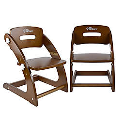 Little Partners Grow With Me Chairs (Set of 2) in Espresso
