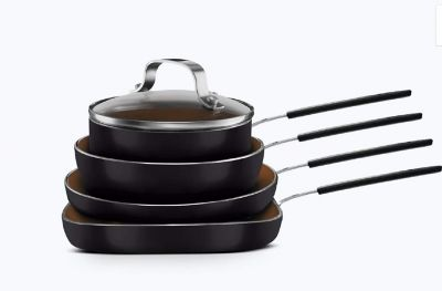 As Seen on TV NEW Gotham Steel Stackmaster 5 Piece Nonstick Cookware Set