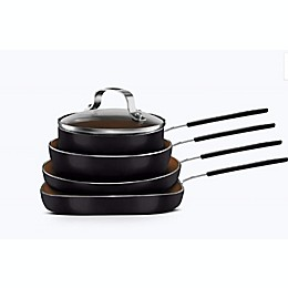 Gotham™ Steel Stackmaster Nonstick Aluminum 5-Piece Mini Cookware Set in Copper/Black