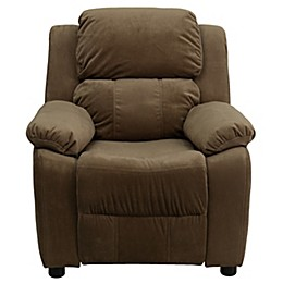 Flash Furniture Microfiber Kids Recliner with Storage Arms