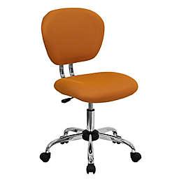 Flash Furniture Mid-Back Mesh Swivel Task Chair in Orange