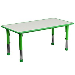 Flash Furniture Rectangular Activity Table in Green/Grey