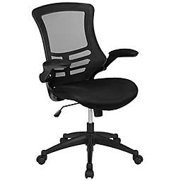 Flash Furniture Mid-Back Mesh Task Chair with Mesh Padded Seat in Black