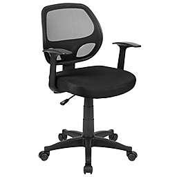 Flash Furniture Mid-Back Mesh Swivel Task Chair in Black