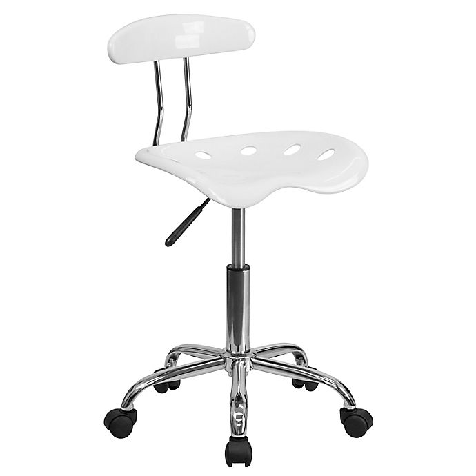 Alternate image 1 for Flash Furniture Vibrant Task Chair with Tractor Seat in White