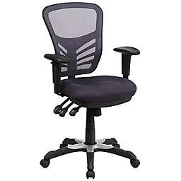Flash Furniture Mid-Back Mesh Swivel Task Chair in Grey