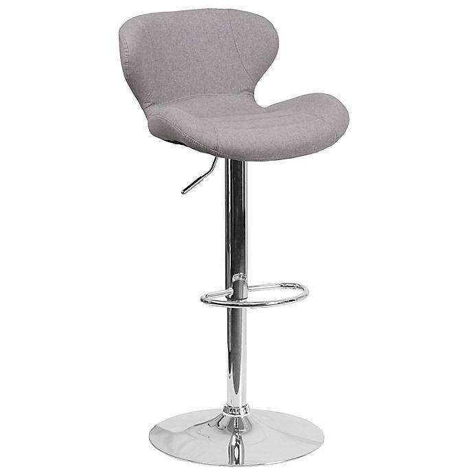Alternate image 1 for Flash Furniture Fabric Adjustable Bar Stool