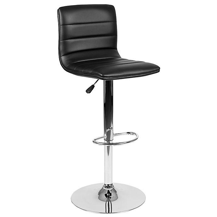 Alternate image 1 for Flash Furniture Contemporary Height Adjustable Vinyl Bar Stool