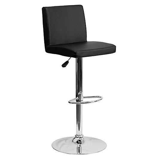 Alternate image 1 for Flash Furniture Contemporary Height Adjustable Vinyl Swivel Bar Stool