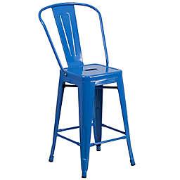Flash Furniture 24-Inch Indoor/Outdoor Metal Stool