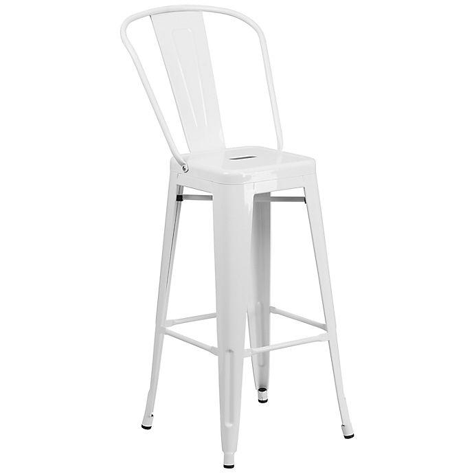 Alternate image 1 for Flash Furniture Metal Bar Stool with Back