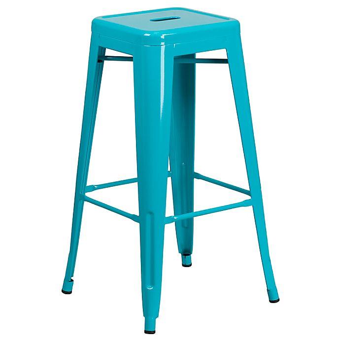 Alternate image 1 for Flash Furniture Backless Square Metal Stool