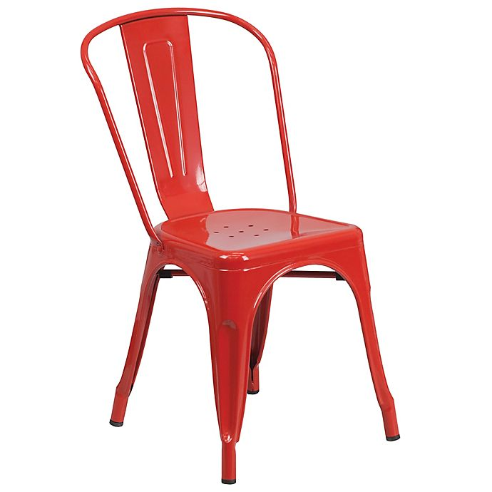 Alternate image 1 for Flash Furniture Indoor/Outdoor Stackable Metal Chair