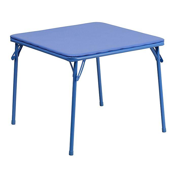 Alternate image 1 for Flash Furniture Kids Folding Table in Blue
